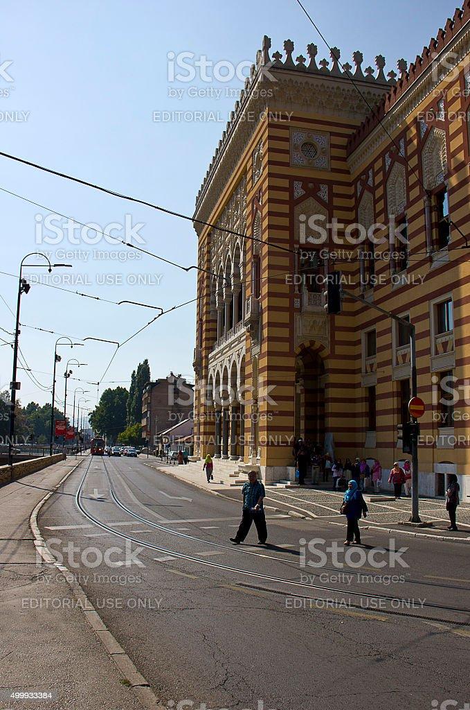 Sarajevo City Hall stock photo
