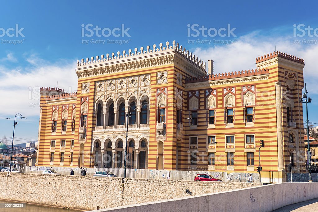 Sarajevo city hall, Vijecnica foto royalty-free