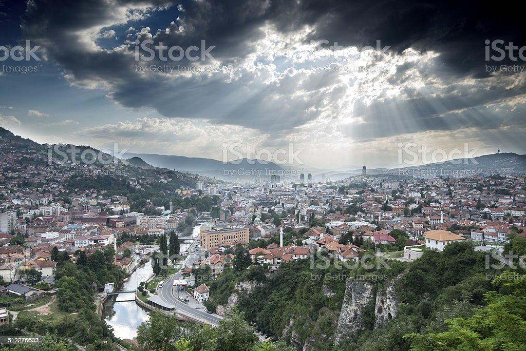 Sarajevo Cityscape stock photo