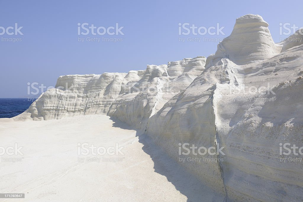 Sarakiniko, Milos,Greece royalty-free stock photo