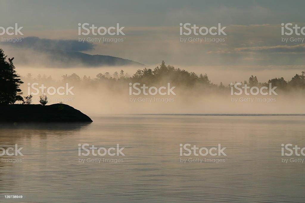 Saranac Lake stock photo