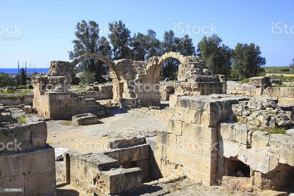 Saranda Kolones, Paphos Cyprus stock photo