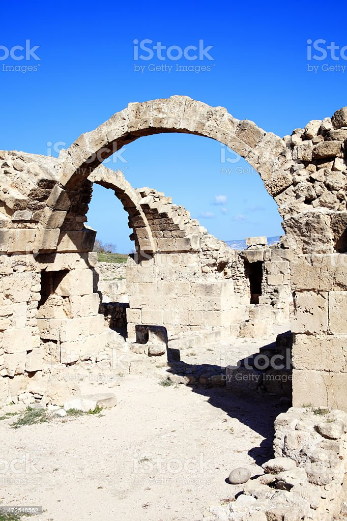 Saranda Kolones (Forty Columns), Paphos, Cyprus stock photo