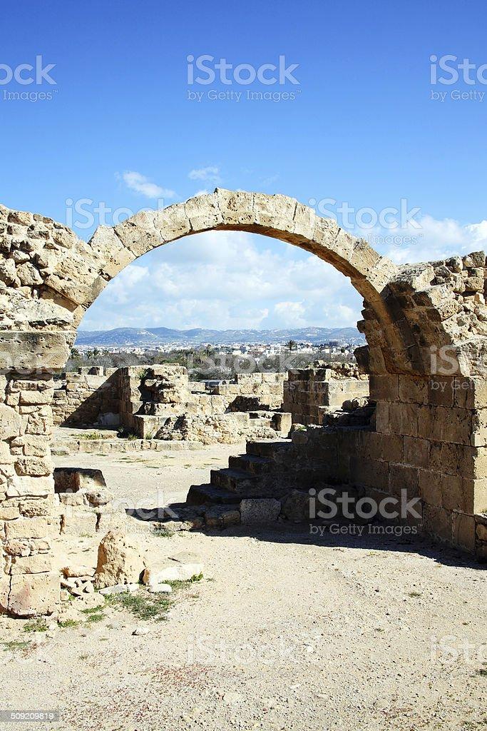Saranda Kolones, Paphos, Cyprus stock photo