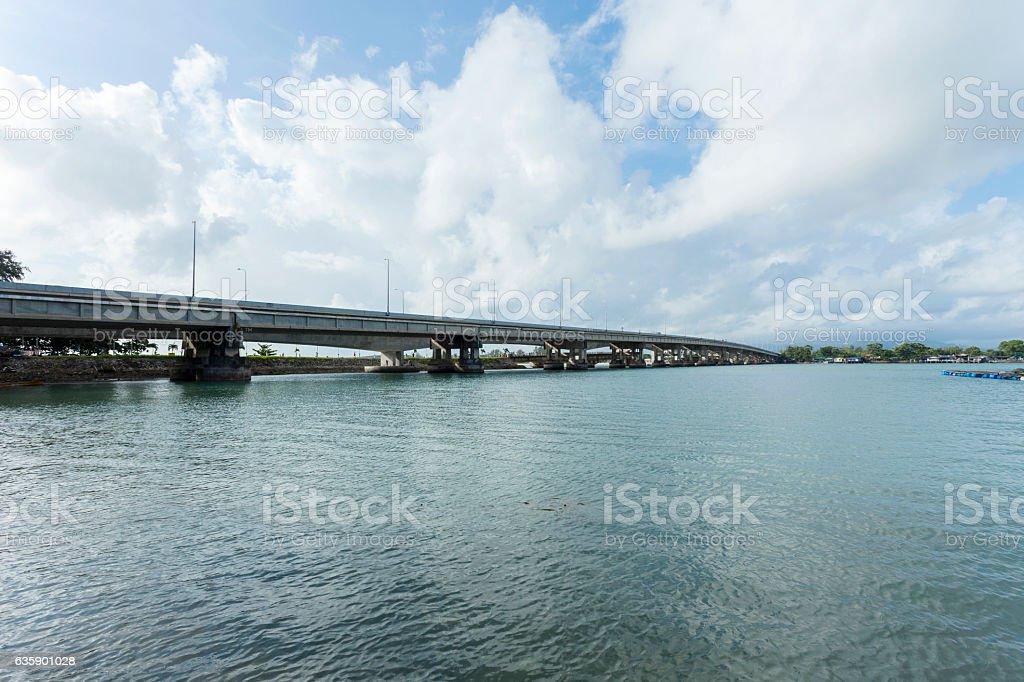 Sarasin bridge way to Phuket island, stock photo
