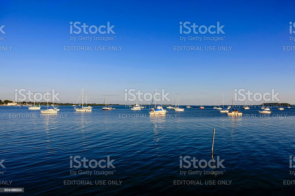 Sarasota Bay Estuary at Bradenton Beach in Florida stock photo