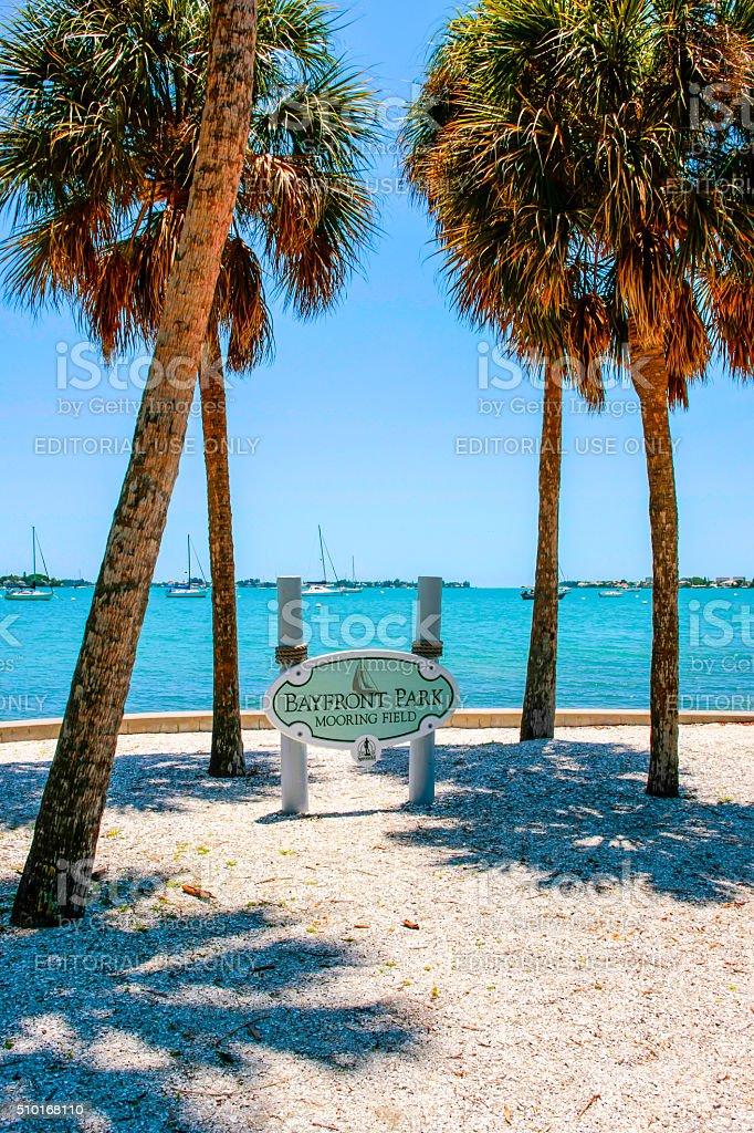 Sarasota Bayfront Park in Florida stock photo