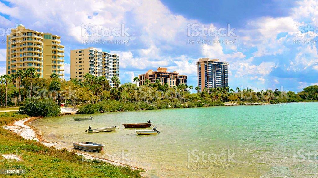 Sarasota Boats stock photo