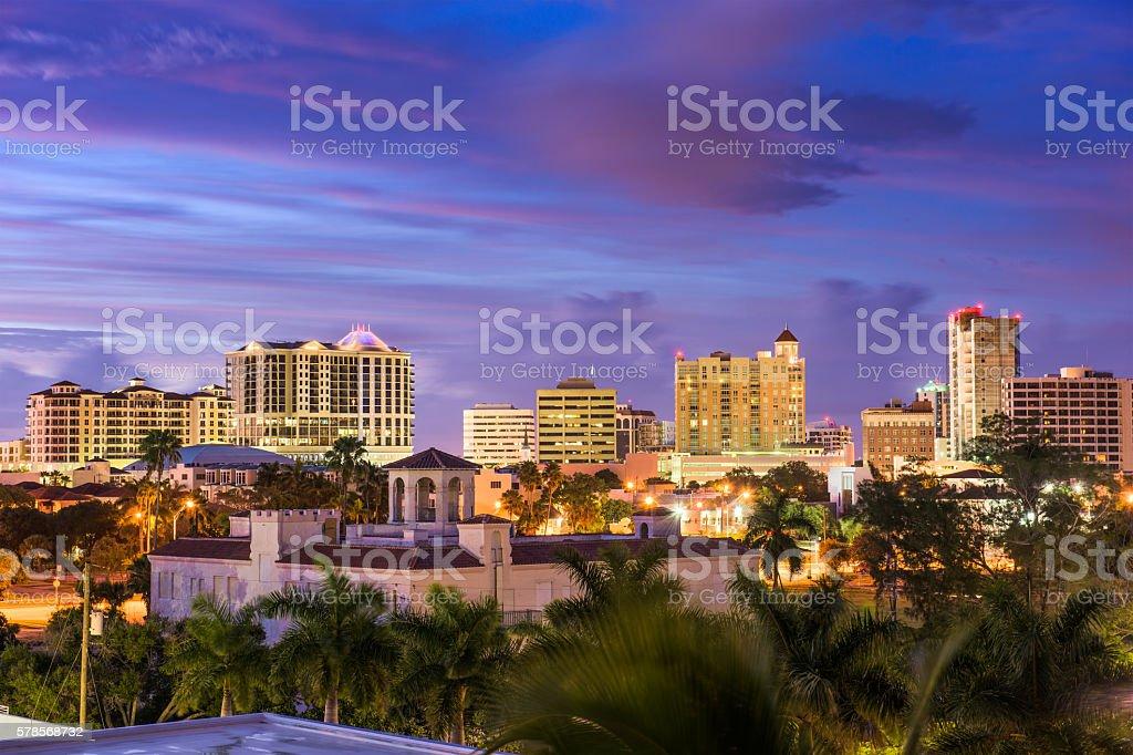 Sarasota, Florida Skyline stock photo