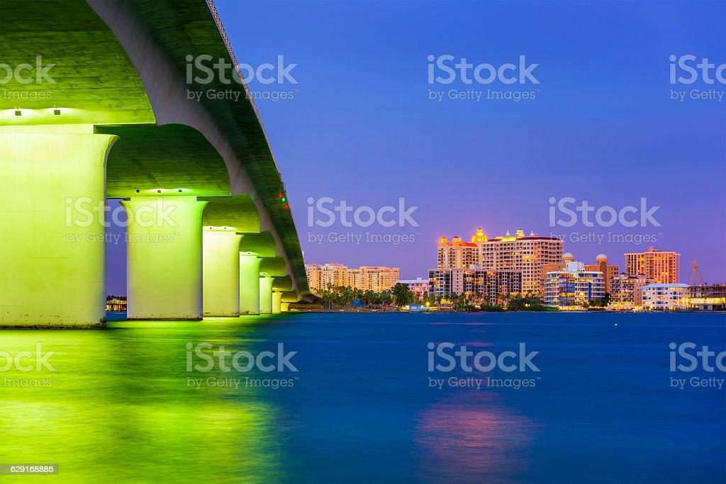 Sarasota Florida Skyline stock photo