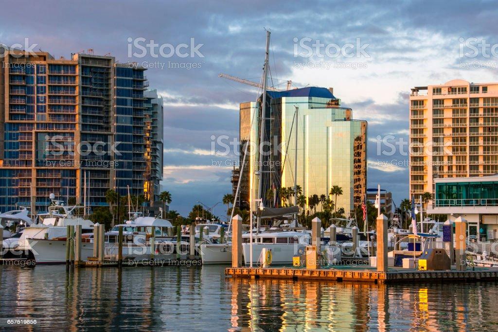 Sarasota Harbor stock photo
