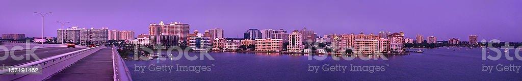 Sarasota panorama stock photo