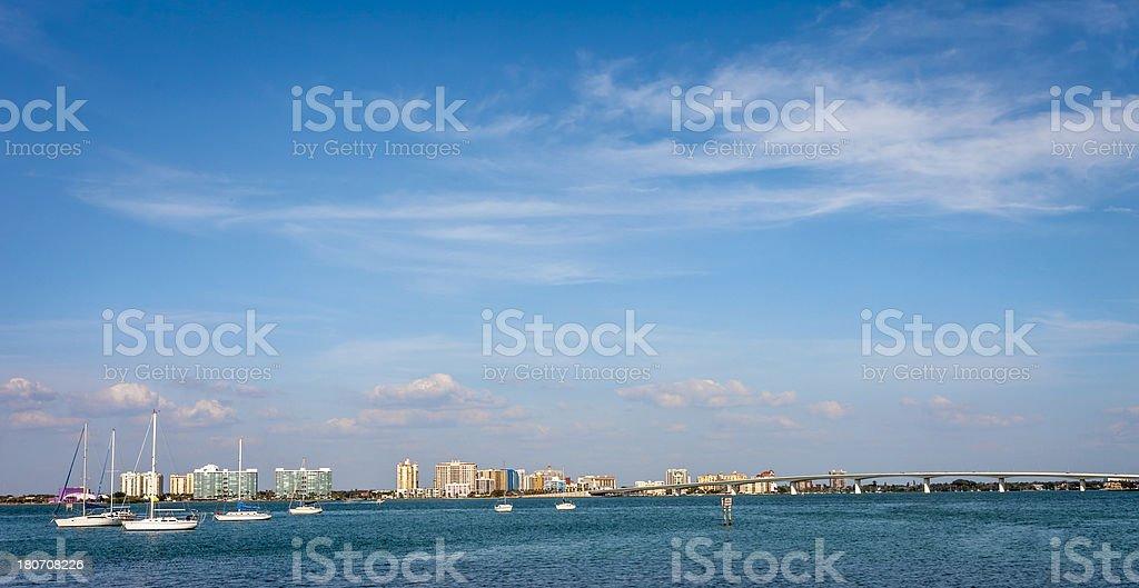 Sarasota Skyline royalty-free stock photo