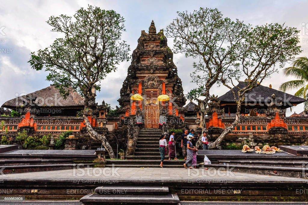 Saraswati Temple in Ubud, Bali stock photo