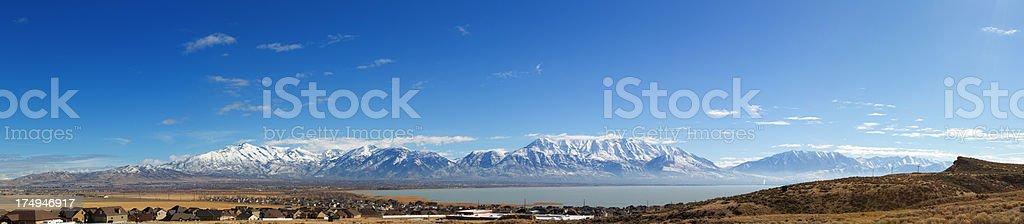 Saratoga Springs, Utah Panoramic stock photo
