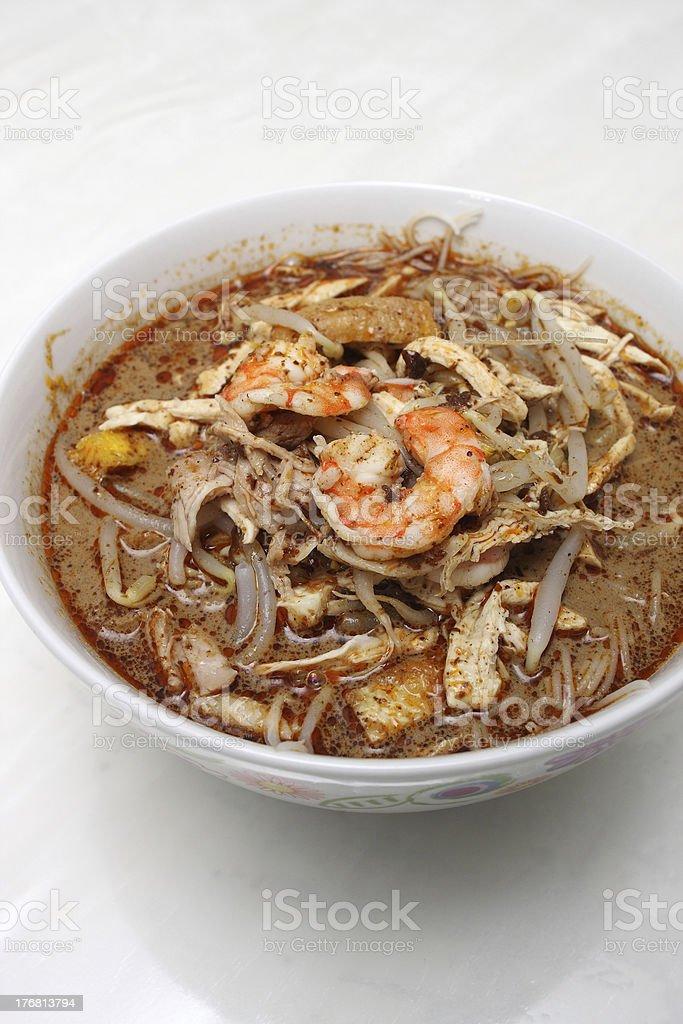 Sarawak Laksa (Chinese Noodles) stock photo