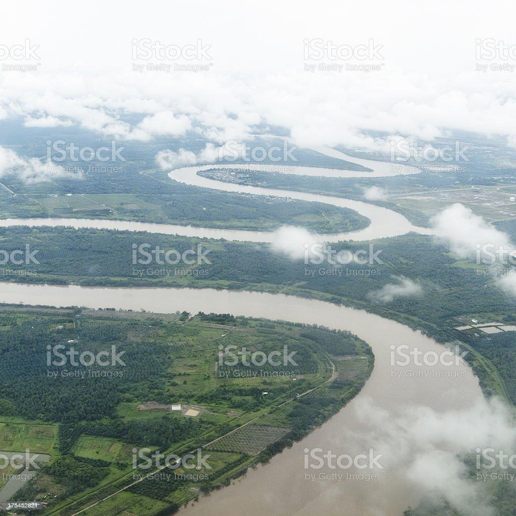 Sarawak River stock photo