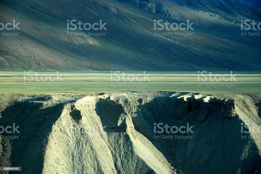 sarchu mountain and ground stock photo