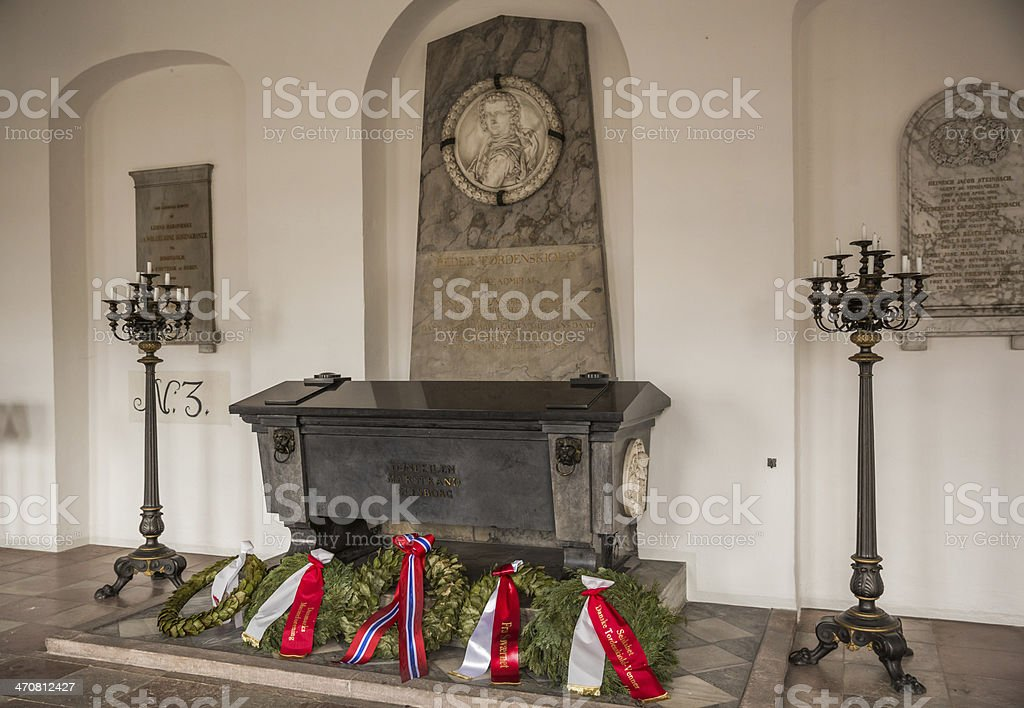 Sarcophagus of Peter Wessel Tordenskjold (Thunder Shield) stock photo