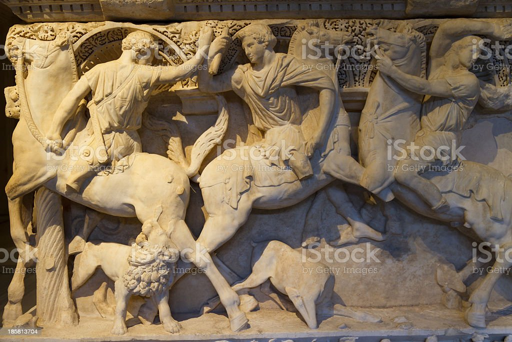 Sarcophagus stock photo