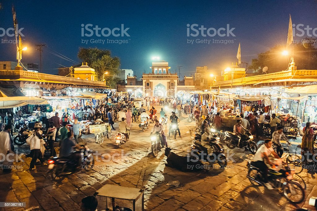 Sardar market in Jodhpur India stock photo
