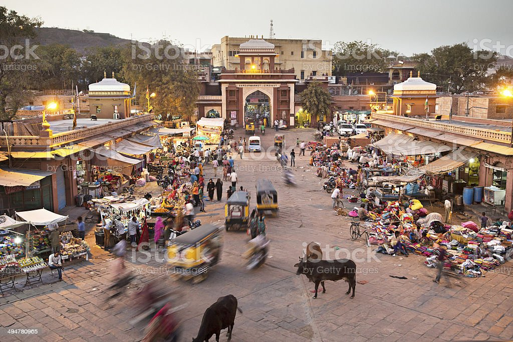 Sardar Market in Jodhpur stock photo