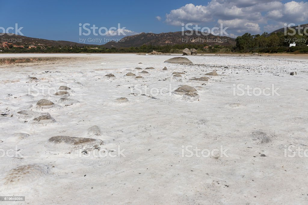 Sardegna Salt Flats - Italy stock photo