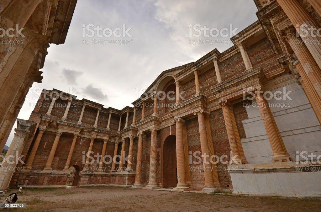 Sardes ancient city Manisa Turkey stock photo