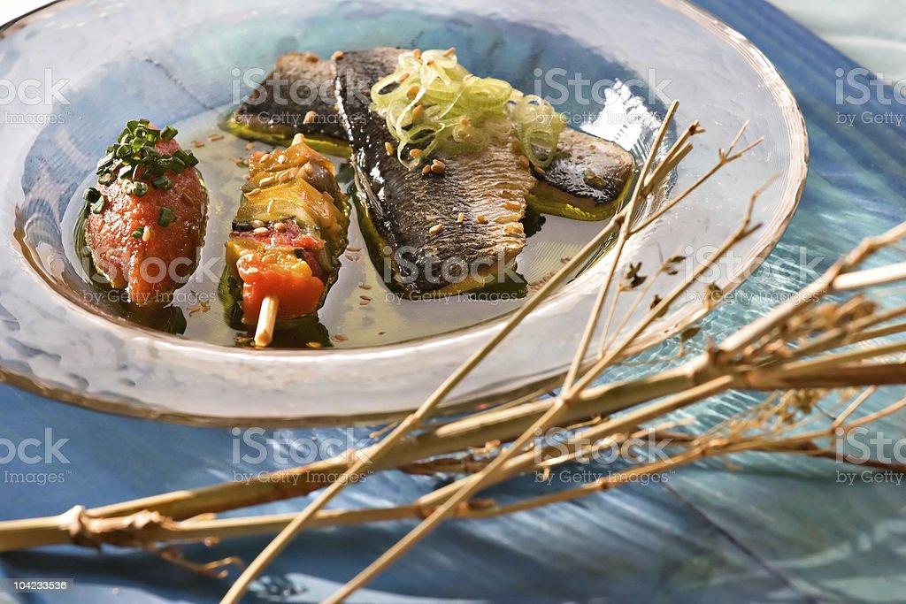 Sardine escabeche stock photo