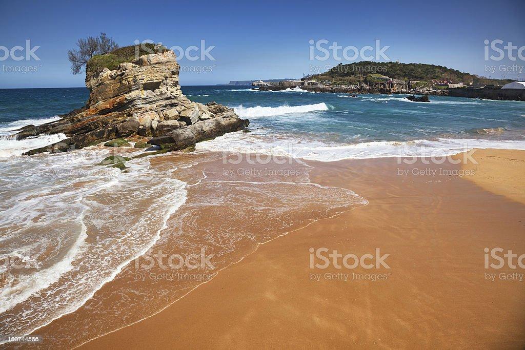 Sardinero Beach, Santander, Spain stock photo