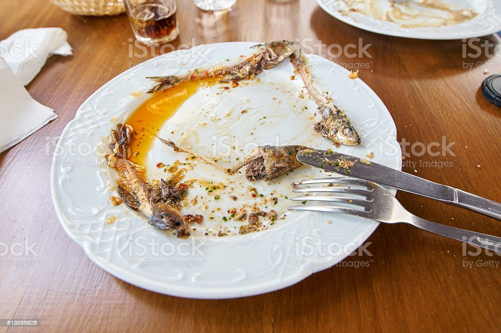 Sardines and mojo sauce in Canary Islands stock photo