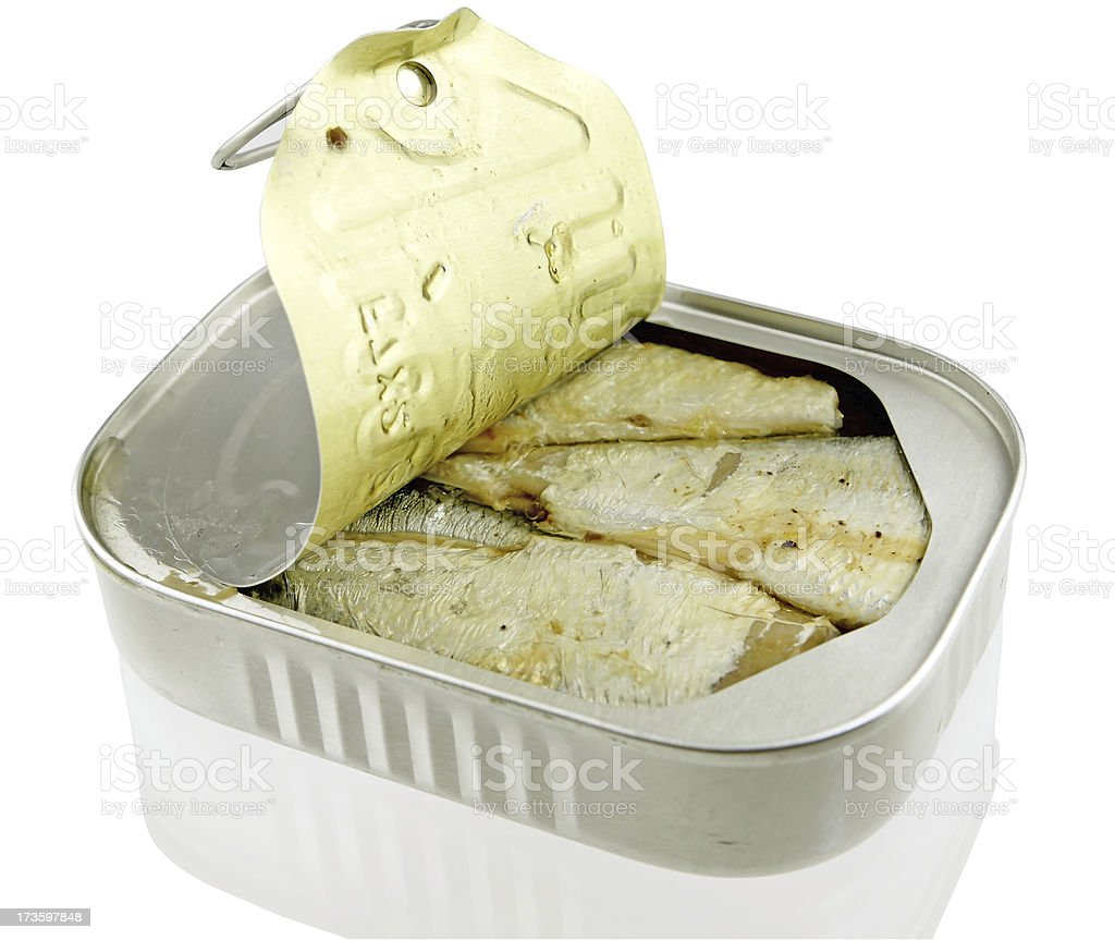 Sardines in a can royalty-free stock photo