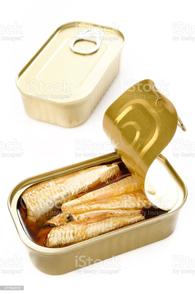 sardines in extra virgin olive oil royalty-free stock photo