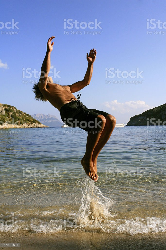 sardinia backflip royalty-free stock photo