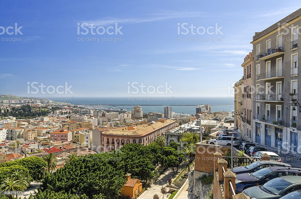 Sardinia, Cagliari city stock photo