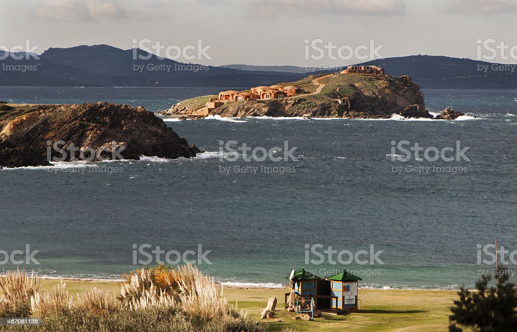 Sardinia capuccini island stock photo