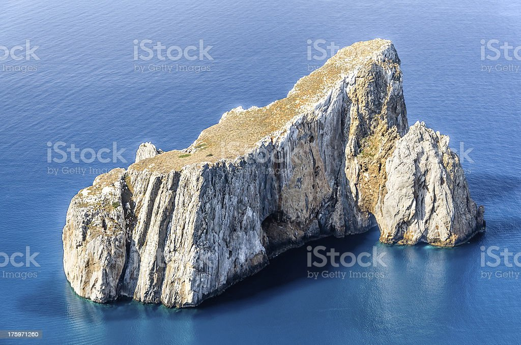 Sardinia, Pan di Zucchero Cliff stock photo
