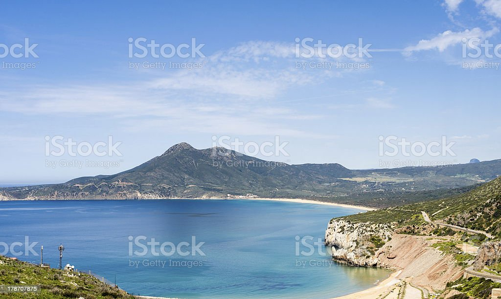 Sardinia, coast of Buggerru stock photo