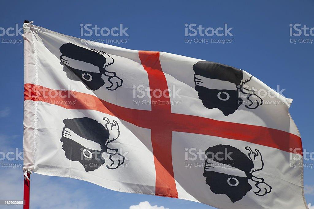 Sardinia Flag royalty-free stock photo