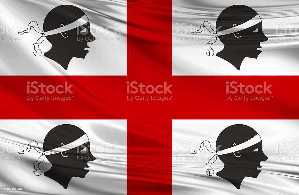 Sardinia Flag stock photo