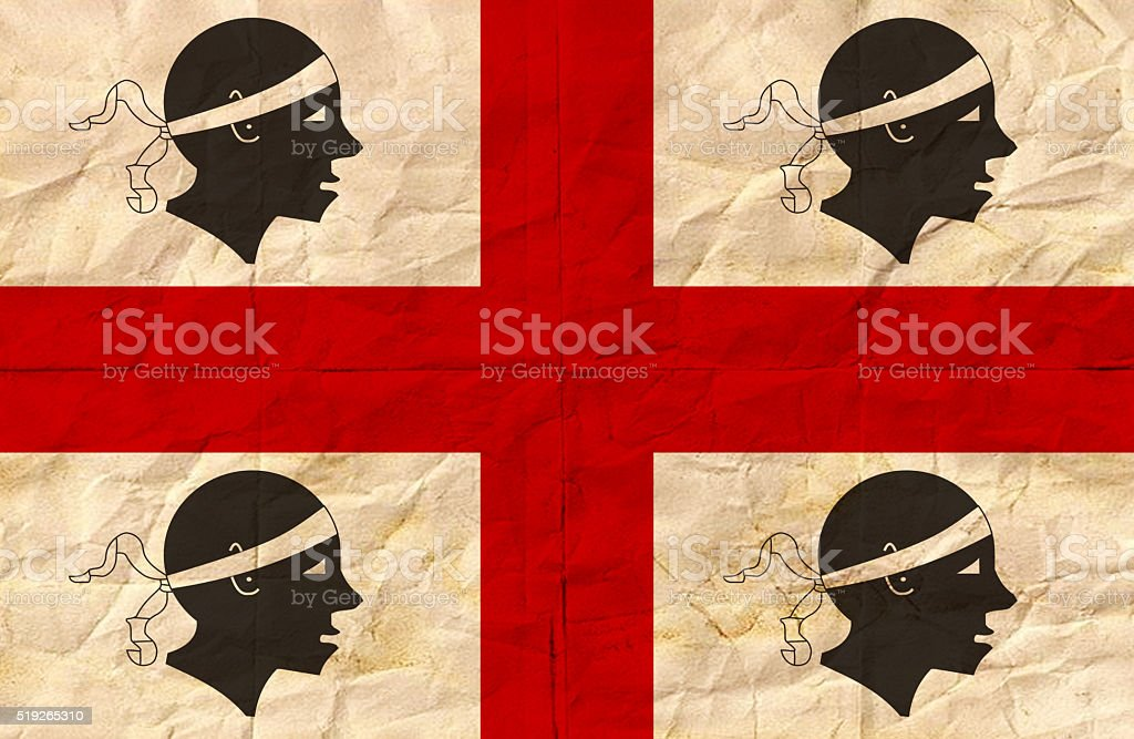 Sardinia grunge flag stock photo
