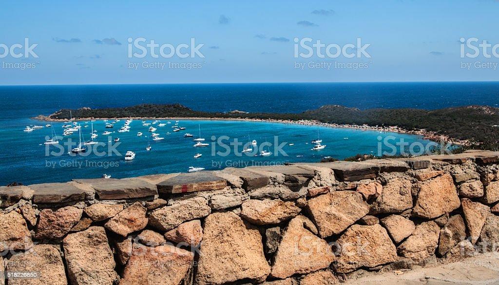 sardinia italy  landscape capo di coda cavallo bay stock photo
