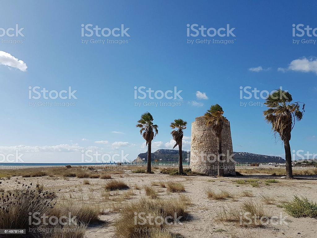 Sardinia, Poetto-Cagliari stock photo