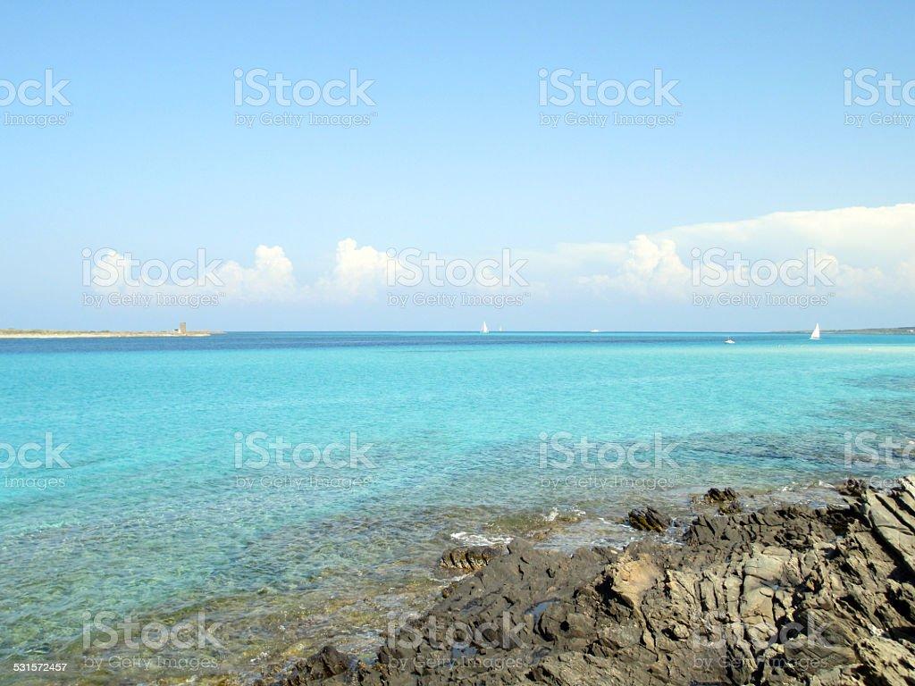 Sardinia Shoreline Beautiful Coast Italy stock photo