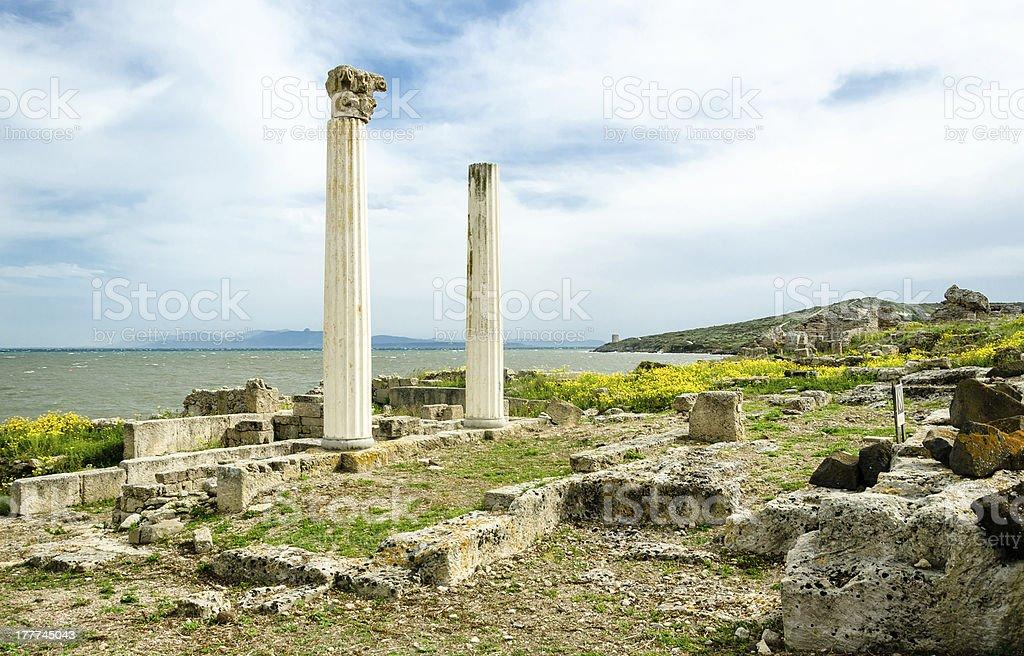 Sardinia, Tharros royalty-free stock photo