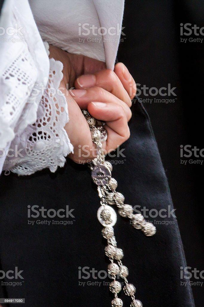 Sardinian costumes and jewels stock photo
