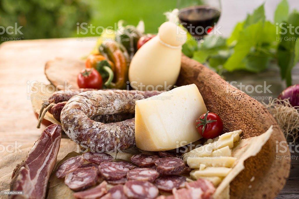 Sardinian Foods stock photo
