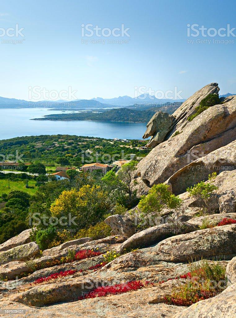 Sardinian landscape stock photo