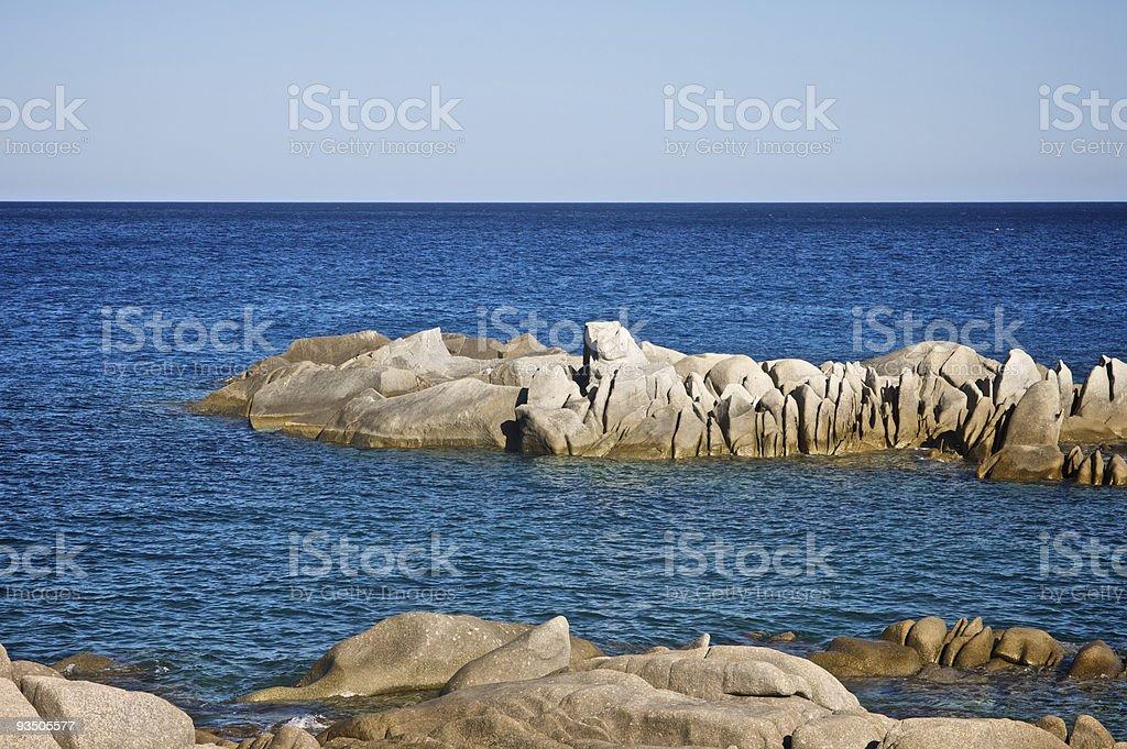 Sardinian rocky coast royalty-free stock photo