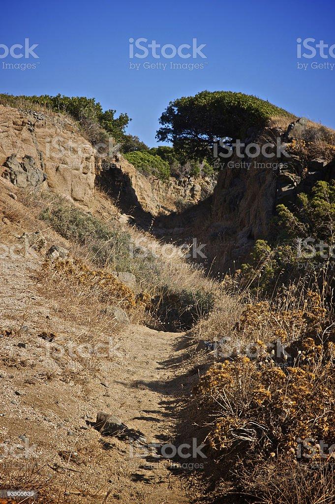 Sardinian roky road stock photo